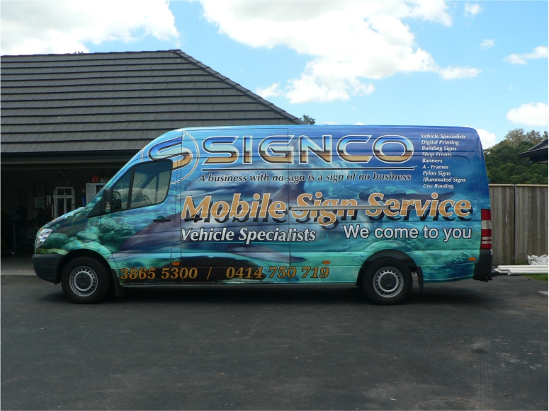 Signco Van with wrap - side view