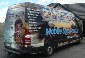 Signco Brisbane Company van with wrap signage