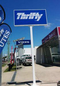 thriffty flag signage work