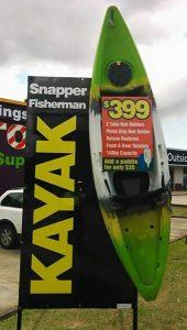 snapper fisherman signage
